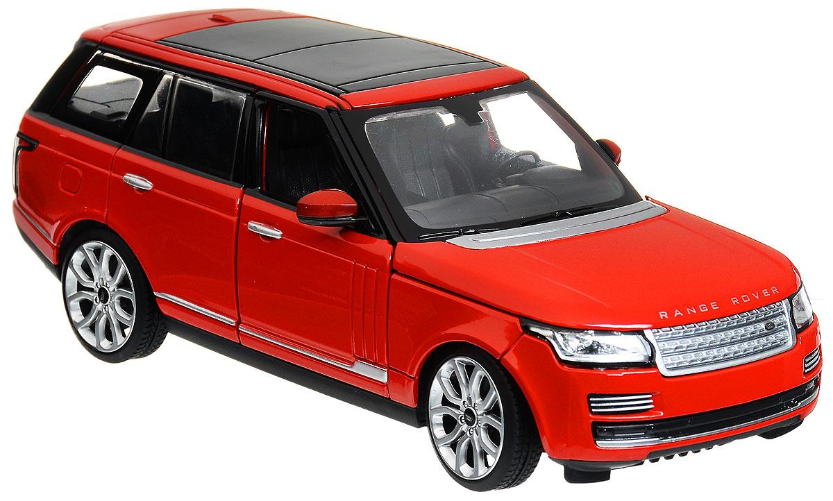 Rastar Модель автомобиля Range Rover цвет красный56300_красныйКоллекционная модель Rastar Range Rover привлечет внимание как ребенка, так и взрослого коллекционера. Машинка является точной уменьшенной копией настоящего автомобиля. Модель выполнена из металла с использованием пластика и оснащена резиновыми колесами, обеспечивающими хорошее сцепление с любой поверхностью пола. Колеса и руль вращаются, капот и передние дверцы открываются. Коллекционная модель Rastar Range Rover станет отличным подарком и украшением любой коллекции!