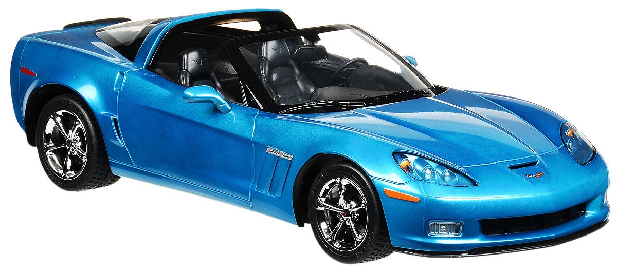 Rastar Радиоуправляемая модель Chevrolet Corvette C6 GS цвет голубой масштаб 1:1242700_синийРадиоуправляемая модель Rastar Chevrolet Corvette C6 GS станет отличным подарком любому мальчику! Все дети хотят иметь в наборе своих игрушек ослепительные, невероятные и крутые автомобили на радиоуправлении. Тем более, если это автомобиль известной марки с проработкой всех деталей, удивляющий приятным качеством и видом. Одной из таких моделей является автомобиль на радиоуправлении Rastar Chevrolet Corvette C6 GS. Это точная копия настоящего авто в масштабе 1:12. Авто обладает неповторимым провокационным стилем и спортивным характером. Потрясающая маневренность, динамика и покладистость - отличительные качества этой модели. Возможные движения: вперед, назад, вправо, влево, остановка. Имеются световые эффекты. Пульт управления работает на частоте 27 MHz. Для работы игрушки необходимы 5 батареек типа АА (не входят в комплект). Для работы пульта управления необходима 1 батарейка 9V (6F22) (не входит в комплект).