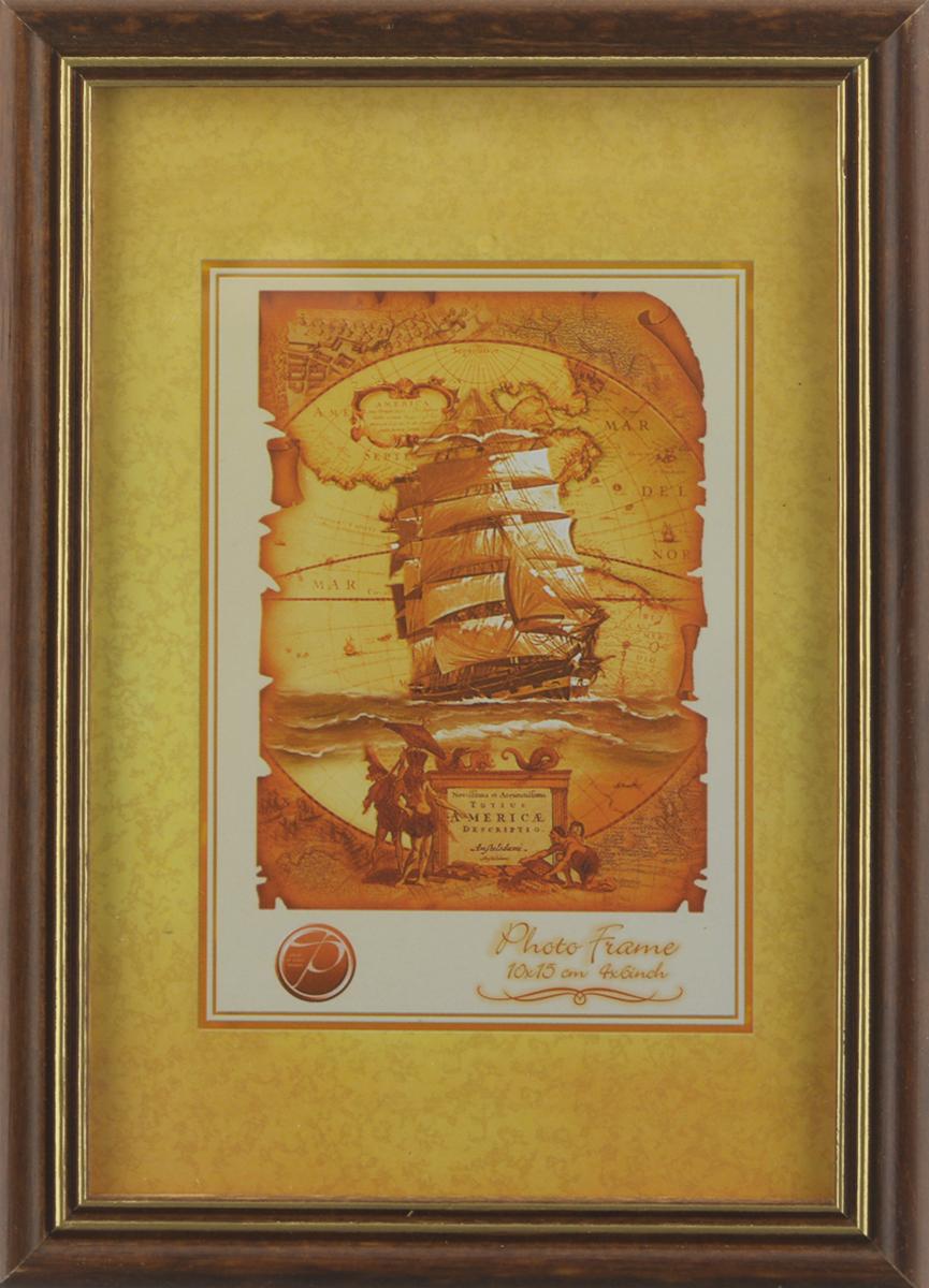 Фоторамка Pioneer Sandy, цвет: темно-коричневый, золотистый, 10 х 15 см6280 005GФоторамка Sandy выполнена в классическом стиле из натурального дерева и стекла, защищающего фотографию. Оборотная сторона рамки оснащена специальной ножкой, благодаря которой ее можно поставить на стол или любое другое место в доме или офисе. Также на изделие имеются два специальных отверстия для подвешивания. Такая фоторамка поможет вам оригинально и стильно дополнить интерьер помещения, а также позволит сохранить память о дорогих вам людях и интересных событиях вашей жизни.