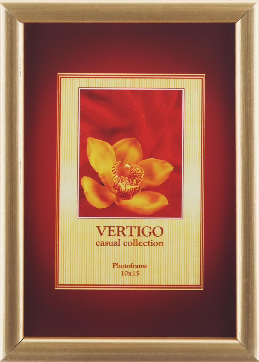 Фоторамка Vertigo Merida, цвет: светло-золотистый, 10 см х 15 см13911 WF1085/911Фоторамка Vertigo Merida выполнена из дерева по краю и стекла, защищающего фотографию. Оборотная сторона рамки оснащена специальной ножкой, благодаря которой ее можно поставить на стол или любое другое место в доме или офисе. Такая фоторамка поможет вам оригинально и стильно дополнить интерьер помещения, а также позволит сохранить память о дорогих вам людях и интересных событиях вашей жизни.