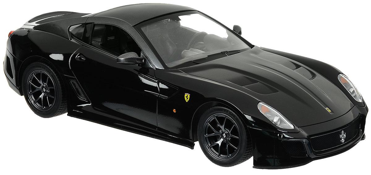 Rastar Радиоуправляемая модель Ferrari 599 GTO цвет черный47100_черныйРадиоуправляемая модель Rastar Ferrari 599 GTO станет отличным подарком любому мальчику! Все дети хотят иметь в наборе своих игрушек ослепительные, невероятные и крутые автомобили на радиоуправлении. Тем более, если это автомобиль известной марки с проработкой всех деталей, удивляющий приятным качеством и видом. Одной из таких моделей является автомобиль на радиоуправлении Rastar Ferrari 599 GTO. Это точная копия настоящего авто в масштабе 1:14. Авто обладает неповторимым провокационным стилем и спортивным характером. Потрясающая маневренность, динамика и покладистость - отличительные качества этой модели. Возможные движения: вперед, назад, вправо, влево, остановка. Имеются световые эффекты. Пульт управления работает на частоте 40 MHz. Для работы игрушки необходимы 5 батареек типа АА (не входят в комплект). Для работы пульта управления необходима 1 батарейка 9V (6F22) (не входит в комплект).