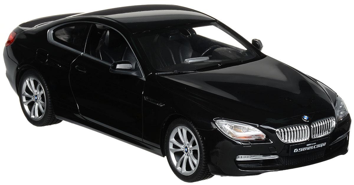 Rastar Радиоуправляемая модель BMW 6 Series цвет черный42600_черныйРадиоуправляемая модель Rastar BMW 6 Series станет отличным подарком любому мальчику! Все дети хотят иметь в наборе своих игрушек ослепительные, невероятные и крутые автомобили на радиоуправлении. Тем более, если это автомобиль известной марки с проработкой всех деталей, удивляющий приятным качеством и видом. Одной из таких моделей является автомобиль на радиоуправлении Rastar BMW 6 Series. Это точная копия настоящего авто в масштабе 1:14. Авто обладает неповторимым провокационным стилем и спортивным характером. Потрясающая маневренность, динамика и покладистость - отличительные качества этой модели. Возможные движения: вперед, назад, вправо, влево, остановка. Имеются световые эффекты. Пульт управления работает на частоте 27 MHz. Для работы игрушки необходимы 5 батареек типа АА (не входят в комплект). Для работы пульта управления необходима 1 батарейка 9V (6F22) (не входит в комплект).