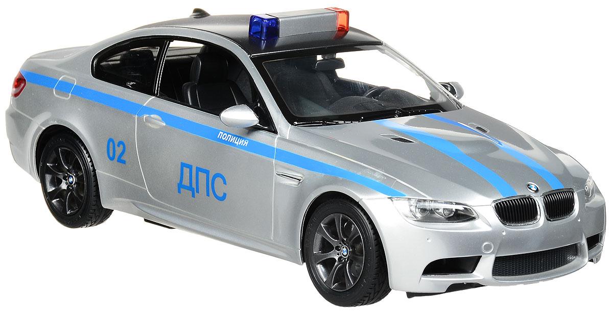 Rastar Радиоуправляемая модель BMW M3 ДПС 48000-5248000-52Радиоуправляемая модель Rastar BMW M3: ДПС станет отличным подарком любому мальчику! Все дети хотят иметь в наборе своих игрушек ослепительные, невероятные и крутые автомобили на радиоуправлении. Тем более, если это автомобиль известной марки с проработкой всех деталей, удивляющий приятным качеством и видом. Одной из таких моделей является автомобиль на радиоуправлении Rastar BMW M3: ДПС. Это точная копия настоящего авто в масштабе 1:14. Авто обладает неповторимым провокационным стилем и спортивным характером. А серьезные габариты придают реалистичность в управлении. Автомобиль отличается потрясающей маневренностью, динамикой и покладистостью. Возможные движения: вперед, назад, вправо, влево, остановка. Имеются световые и звуковые эффекты. Пульт управления работает на частоте 27 MHz. Для работы игрушки необходимы 5 батареек типа АА (не входят в комплект). Для работы пульта управления необходима 1 батарейка 9V (6F22) (не входит в комплект).