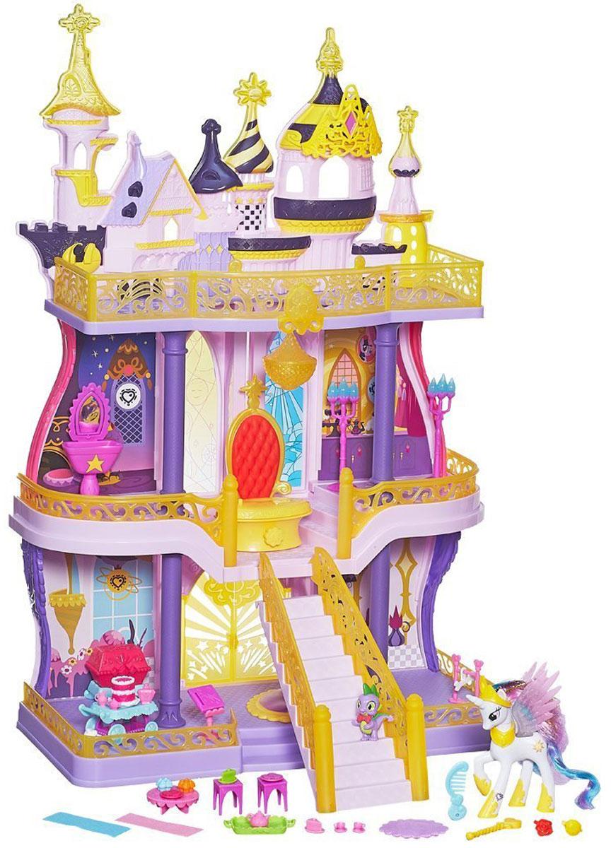 My Little Pony Игровой набор Замок КантерлотB1373EU0Игровой набор My Little Pony Замок Кантерлот подарит вам волшебство и радость! С этим набором можно устроить вечеринку в замке для всех жителей Понивилля! Принцесса Селестия и дракон Спайк - хозяева самых лучших вечеринок в округе. Замок имеет три этажа и настоящий лифт, который поднимает всех пони (продаются отдельно) на второй и третий этажи. Также любая пони может доскакать до трона по парадной лестнице. В замке множество кодов, которые можно отсканировать с помощью смартфона и открыть всевозможные развлечения в приложении Мой маленький пони. Праздник дружбы! В наборе - мебель и аксессуары для украшения замка по вашему вкусу - всё, что вам нужно для королевских приключений пони на каждом этаже!