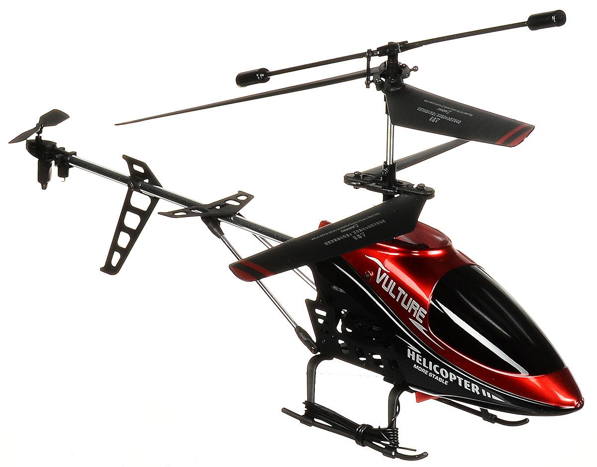 ABtoys Вертолет на радиоуправлении Vulture цвет красныйC-00122_красныйВертолет Vulture на инфракрасном управлении с встроенным гироскопом от компании ABtoys отлично подходит для полетов в закрытых помещениях и на улице в безветренную погоду. Гироскоп предназначен для курсовой стабилизации полета. Вертолет достаточно большой и имеет радиус управления с пульта до 25 метров. Игрушка может летать вперед-назад, вверх-вниз, вправо-влево, поворачивать на 360 градусов. Вертолет оснащен проблесковыми огнями для полета в темноте. Имеется возможность подзарядки вертолета от пульта и USB-шнура. Полностью заряженный вертолет летает 7-8 минут. Игрушка развивает многочисленные способности ребенка - мелкую моторику, пространственное мышление, реакцию и логику. Вертолет работает от встроенного аккумулятора (Li-Poly 3,7V ), который подзаряжать возможно от USB-шнура (входит в комплект). Для работы пульта управления необходимо купить 3 батарейки напряжением 1,5V типа АА (в комплект не входят). Материал: металл, пластмасса.