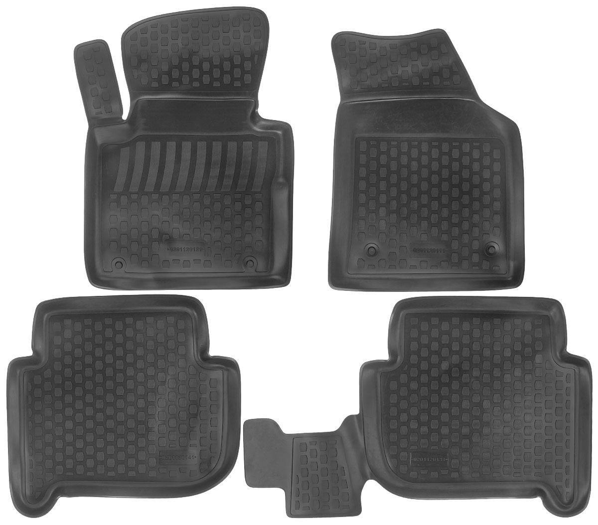 Набор автомобильных ковриков L.Locker Volkswagen Touran 2003, в салон, 4 шт0201120101Набор L.Locker Volkswagen Touran 2003, изготовленный из полиуретана, состоит из 4 антискользящих 3D ковриков, которые производятся индивидуально для каждой модели автомобиля. Изделие точно повторяет геометрию пола автомобиля, имеет высокий борт, обладает повышенной износоустойчивостью, лишено резкого запаха и сохраняет свои потребительские свойства в широком диапазоне температур от -50°С до +50°С. Комплектация: 4 шт. Размер ковриков: 73 см х 54 см; 60 см х 56 см; 91 см х 56 см; 68 см х 49 см.
