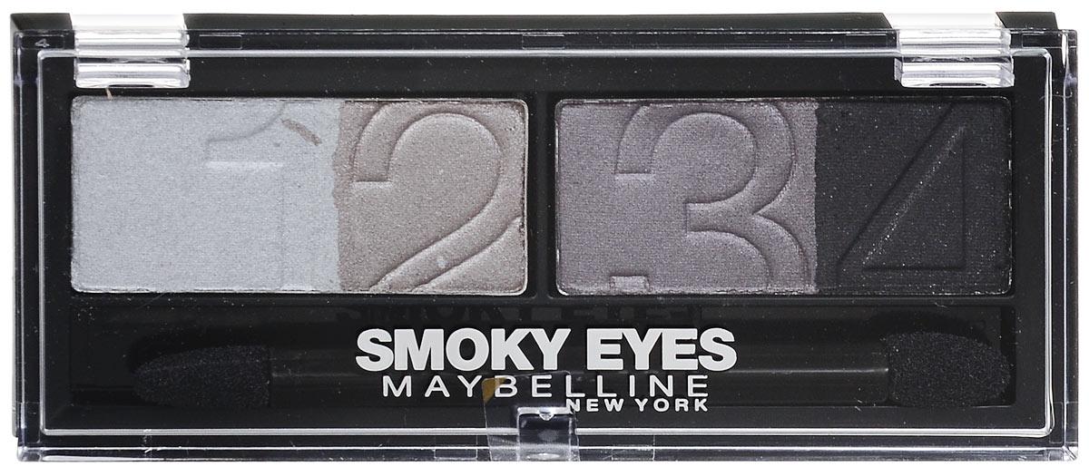 Maybelline New York Тени для век EyeStudio Smoky Eyes, оттенок 32, угольный, 5 гB1860401Профессиональная палитра оттенков обеспечивает мягкий переход тонов для создания выразительного макияжа «Смоки-айз». Угольные пигменты обеспечивают стойкий насыщенный цвет для невероятного пронзительного взгляда. 3 оттенка