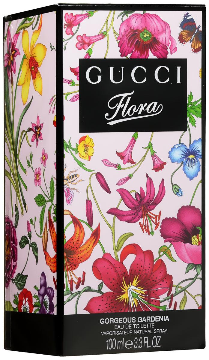 Gucci Flora Gorgeous Gardenia. Туалетная вода, 100 мл0737052522487В Gucci Flora Gorgeous Gardenia вошли пять ароматов цветущего сада, основой каждого стали цветы - гардения, магнолия, тубероза, фиалка, мандарин. Согласно задумке парфюмера, все пять запахов сможет носить одна женщина, в зависимости от настроения или случая. Аромат Flora Gorgeous Gardenia с отчетливыми нотками гардении дополнит яркий и смелый образ, а ноты красных ягод и сладкие полутона напомнят о весне. Классификация аромата : фруктовый, цветочный. Пирамида аромата : Верхние ноты: груша, красные ягоды. Ноты сердца: гардения, жасмин. Ноты шлейфа: лист пачули, коричневый сахар. Ключевые слова : яркий, стильный, соблазнительный!