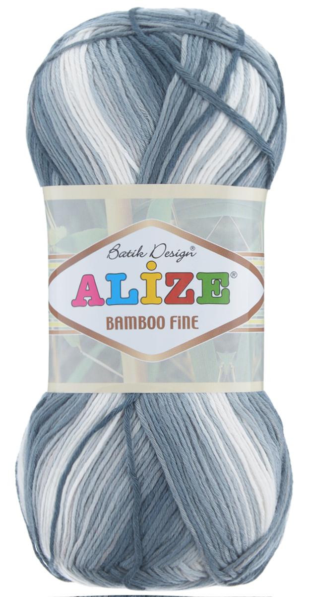 Пряжа для вязания Alize Bamboo Fine, цвет: белый, серый (2905), 440 м, 100 г, 5 шт688986_2905Пряжа Alize Bamboo Fine подходит для ручного вязания детям и взрослым. Пряжа однотонная, приятная на ощупь, хорошо лежит в полотне. Изделия из такой нити получаются мягкие и красивые. Рекомендованные спицы 2,5-3,5 мм и крючок для вязания 1-3 мм. Состав: 100% бамбук.