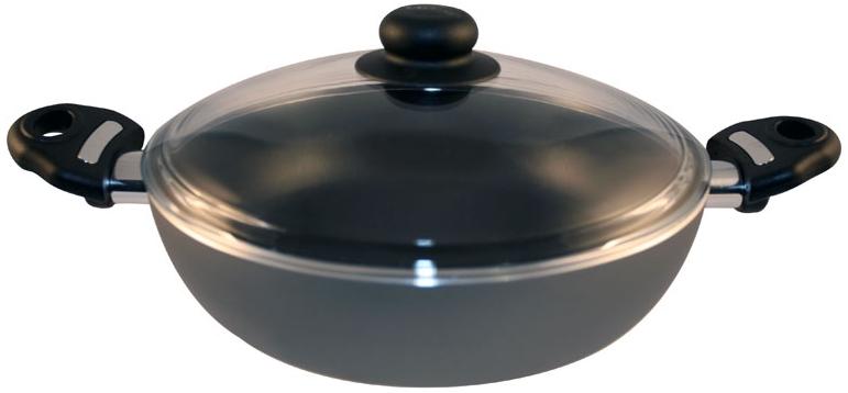 Жаровня глубокая d 240 мм 2 р.с антипригарным покрытием, ст. крышка SCOVO. СД-012/С-601, серебристыйСД-012/С-601Жаровня глубокая d 240 мм 2 р.с антипригарным покрытием, ст. крышка SCOVO. СД-012/С-601, серебристый