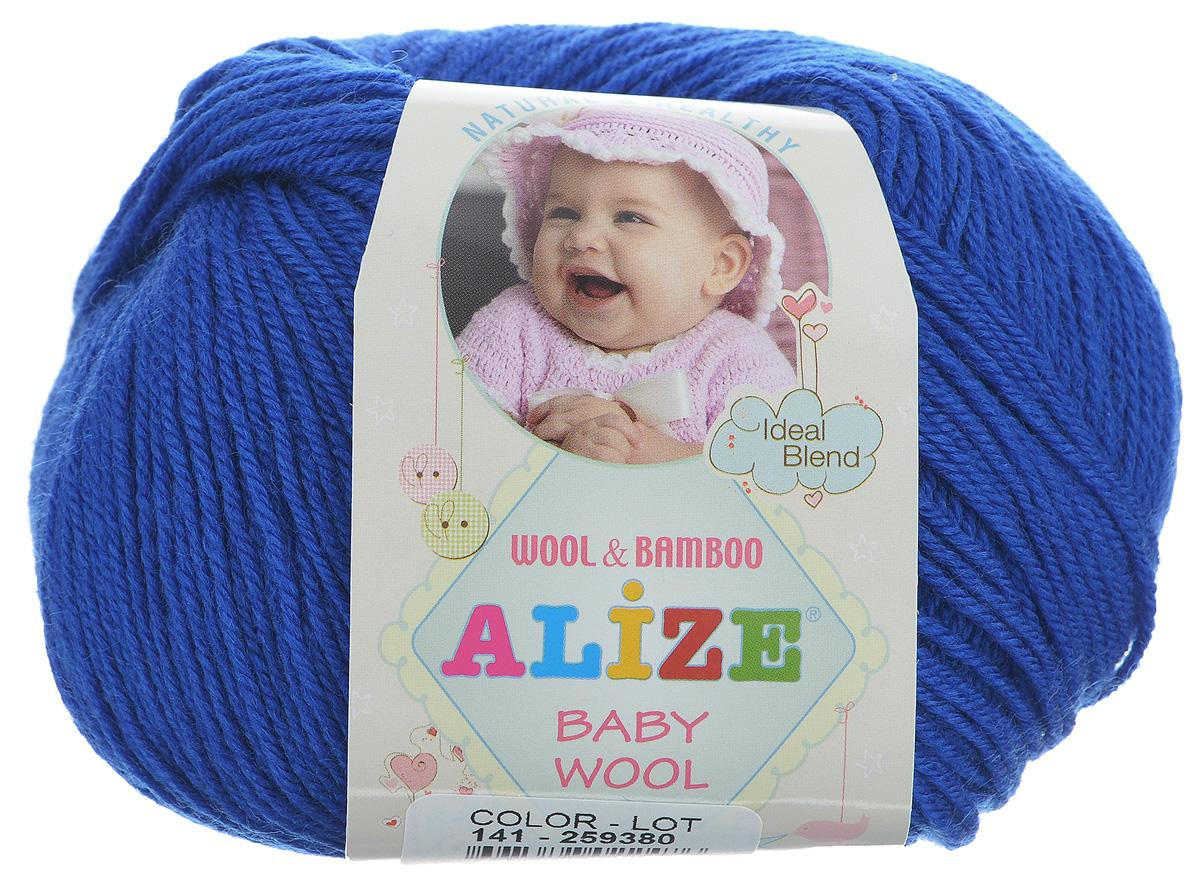 Пряжа для вязания Alize Baby Wool, цвет: синий (141), 175 м, 50 г, 10 шт686501_141Детская пряжа для вязания Alize Baby Wool изготовлена из очень мягкой и высококачественной натуральной шерсти и бамбука. Из пряжи Baby Wool получается тонкий, но очень теплый трикотаж для ребенка. Акрил в составе нитей допускает легкую машинную стирку вещей. Цветовая палитра включает в себя комбинации, которые подходят как для мальчиков, так и для девочек. Рекомендуемые для вязания спицы 2,5-4 мм и крючки 1-3 мм. Состав: 40% шерсть, 40% акрил, 20% бамбук.