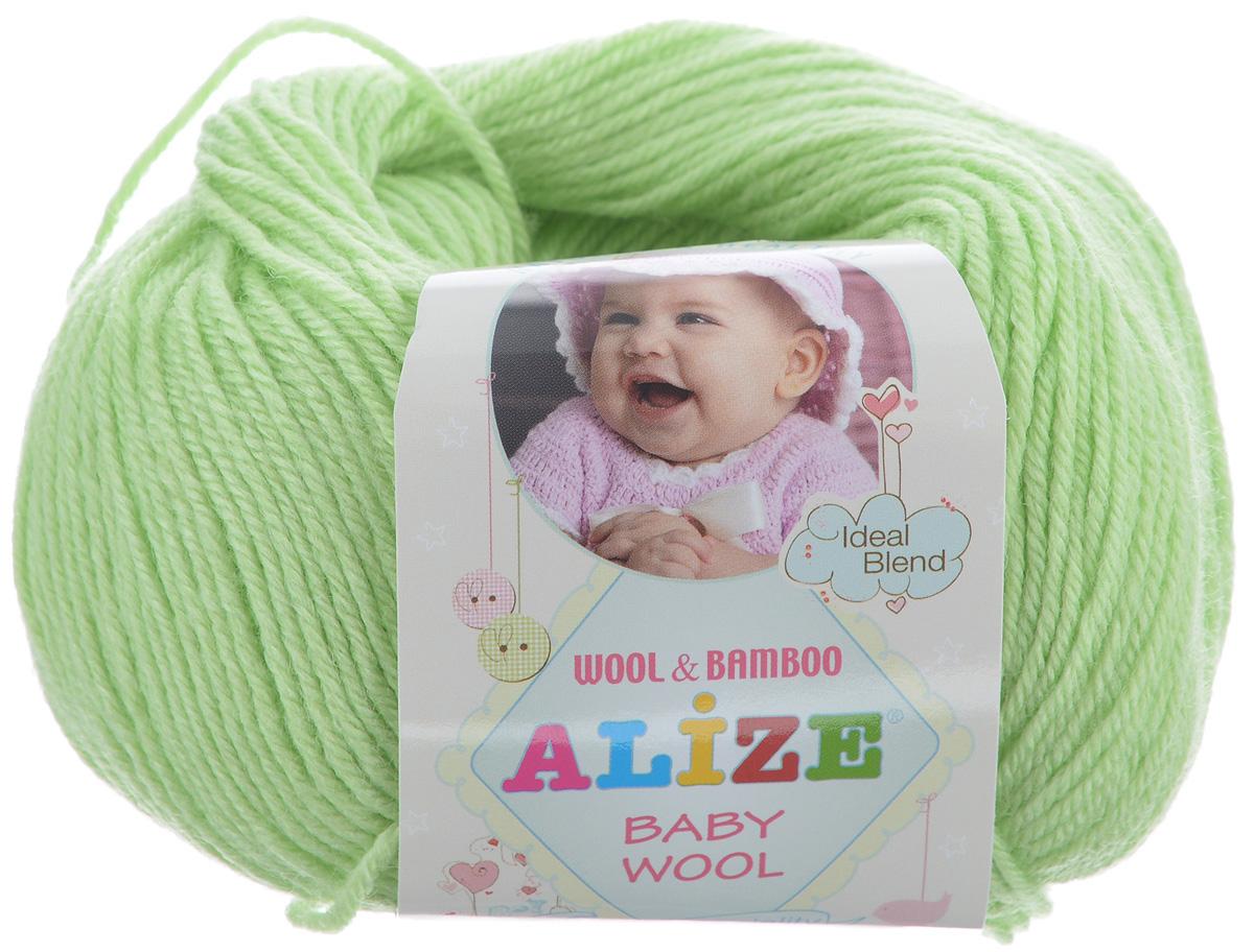 Пряжа для вязания Alize Baby Wool, цвет: светло-зеленый (41), 175 м, 50 г, 10 шт686501_41Детская пряжа для вязания Alize Baby Wool изготовлена из очень мягкой и высококачественной натуральной шерсти и бамбука. Из пряжи Baby Wool получается тонкий, но очень теплый трикотаж для ребенка. Акрил в составе нитей допускает легкую машинную стирку вещей. Цветовая палитра включает в себя комбинации, которые подходят как для мальчиков, так и для девочек. Рекомендуемые для вязания спицы 2,5-4 мм и крючки 1-3 мм. Состав: 40% шерсть, 40% акрил, 20% бамбук.