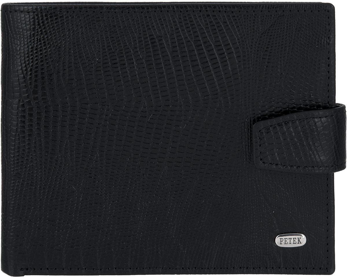 Портмоне мужское Petek 1855, цвет: черный. 198.041.01 198.041.01 Black