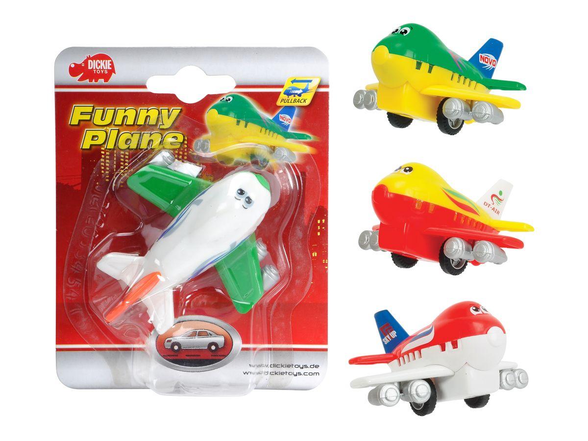 Dickie Toys Веселый самолет инерционный цвет белый зеленый ( 3345475 )