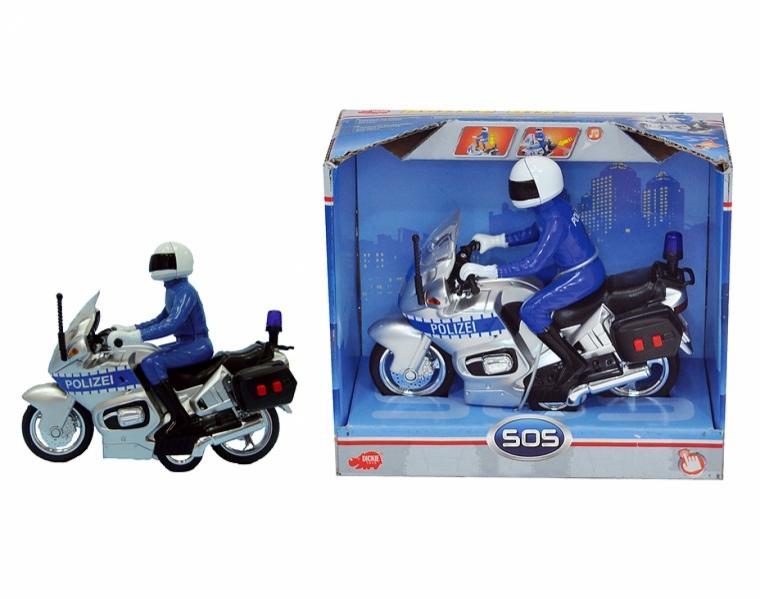 DICKIE Функциональный полицейский мотоцикл3383749Внимание! Возможно проглатывание мелких деталей.Пользоваться только под непосредственным контролем взрослых с соблюдением необходимой предосторожности. Не обеспечивает защиты при несчастном случае.