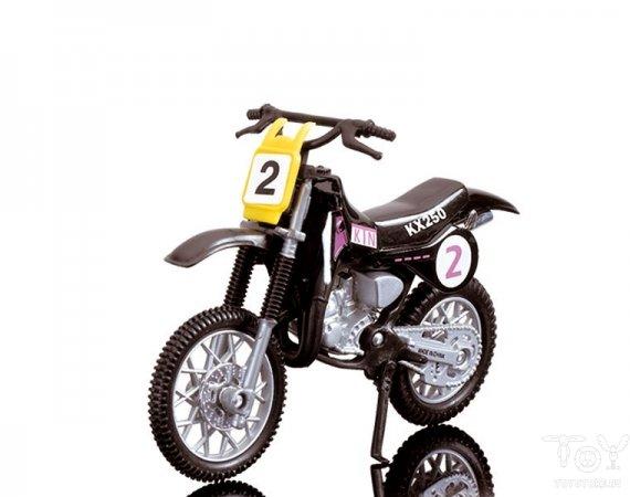 Dickie Toys Кроссовый мотоцикл № 2 цвет черный ( 3385773_черный )