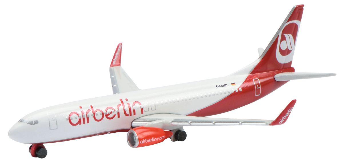 Schuco Коллекционная модель самолета Boeing B737-800 Air Berlin403551629Великолепная модель самолета Boeing B737-800 Air Berlin от Schuco порадует как детей, так и опытных коллекционеров. Модель представляет собой детально выполненную копию серийного авиалайнера Boeing B737-800, который окрашен в фирменном стиле Air Berlin. Модель не нуждается в сборке. Корпус самолета полностью выполнен из металла. Масштаб 1:600. В комплекте с моделью прилагается подставка.