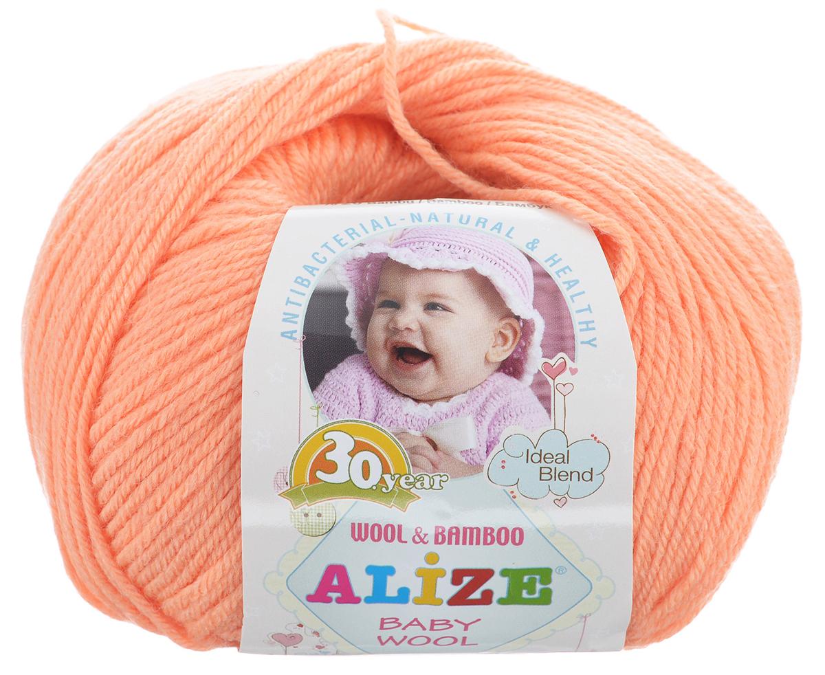 Пряжа для вязания Alize Baby Wool, цвет: оранжевый (449), 175 м, 50 г, 10 шт686501_449Детская пряжа для вязания Alize Baby Wool изготовлена из очень мягкой и высококачественной натуральной шерсти и бамбука. Из пряжи Baby Wool получается тонкий, но очень теплый трикотаж для ребенка. Акрил в составе нитей допускает легкую машинную стирку вещей. Цветовая палитра включает в себя комбинации, которые подходят как для мальчиков, так и для девочек. Рекомендуемые для вязания спицы 2,5-4 мм и крючки 1-3 мм. Состав: 40% шерсть, 40% акрил, 20% бамбук.