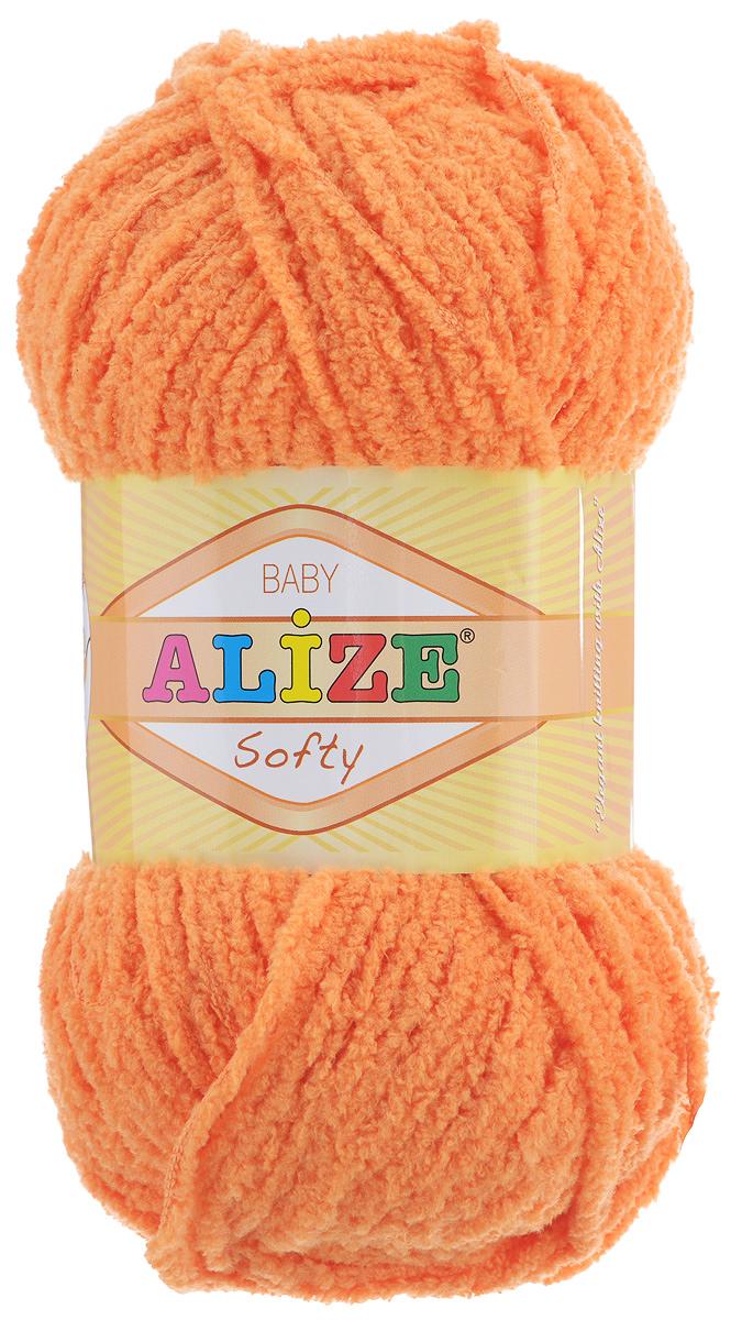 Пряжа для вязания Alize Softy, цвет: оранжевый (336), 115 м, 50 г, 5 шт694530_336Пряжа для вязания Alize Softy изготовлена из микрополиэстера. Фантазийная плюшевая пряжа для ручного вязания прекрасно подойдет для детской одежды. Ниточка мягкая и приятная на ощупь. Подходит для вязания спицами и крючком. Рекомендованные спицы 3-5 мм и крючок для вязания 2-4 мм. Комплектация: 5 мотков.