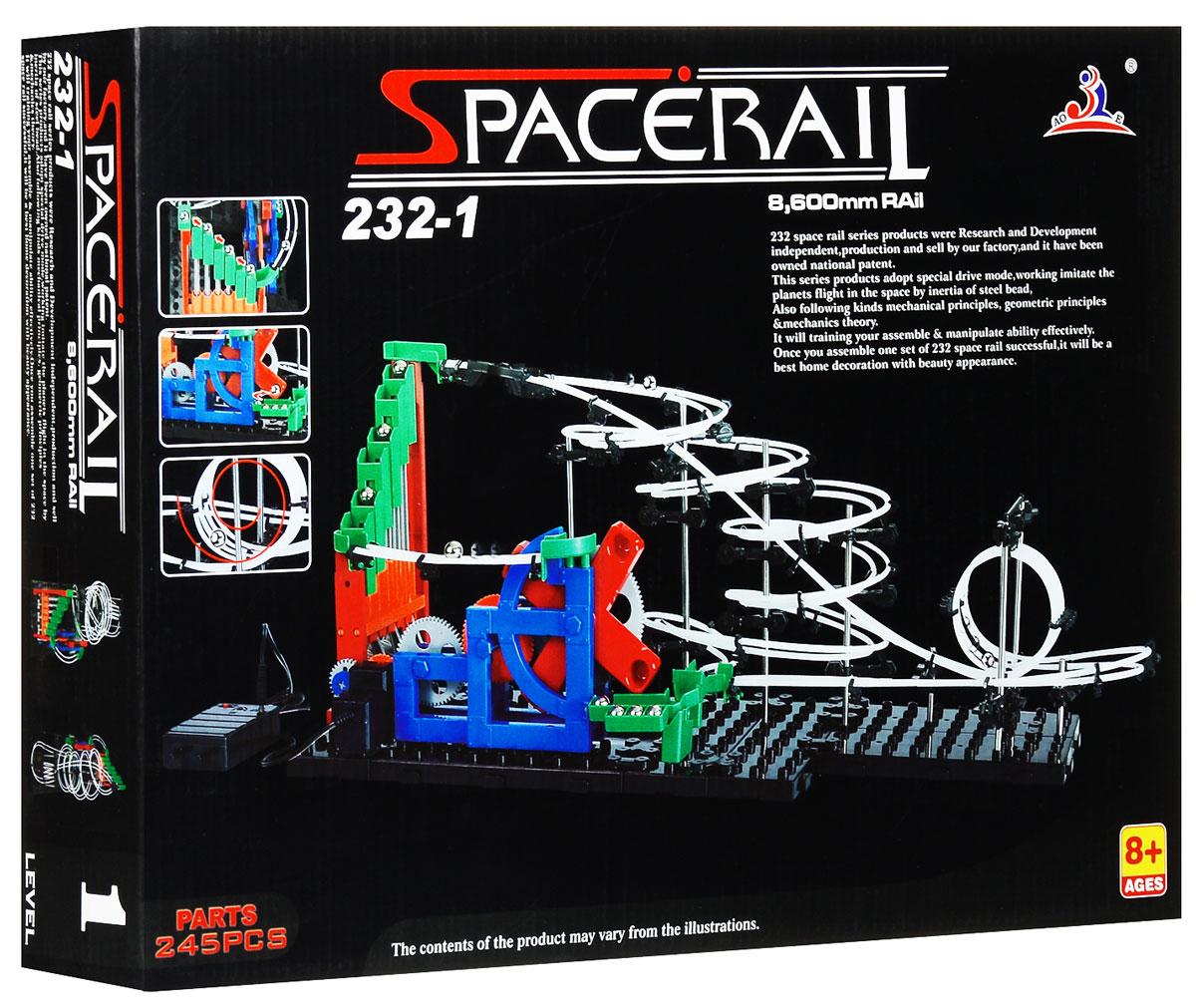 Space Rail Конструктор Уровень 1 860 см232-1Конструктор Space Rail - космическая трасса, представляет собой отличную пространственную головоломку, которая увлечет всю семью от мала до велика! Процесс сборки доставит удовольствие и детям, и родителям, а запуск космической трассы приведет всех в восторг. Вы сможете построить захватывающие дороги и сами задать траектории, по которым стремительно будут проноситься металлические шарики. Это интереснейший аттракцион, напоминающий американские горки, за которым можно наблюдать часами. Сборка конструктора поможет ребенку развить пространственное мышление и фантазию. Собранная модель станет изюминкой вашего дома и привлечет внимание окружающих. Вы и ваш ребенок сможете гордиться тем, что самостоятельно собрали такой аттракцион. Длина трассы: 860 см. Для работы игрушки необходимы 3 батарейки типа АА (не входят в комплект).