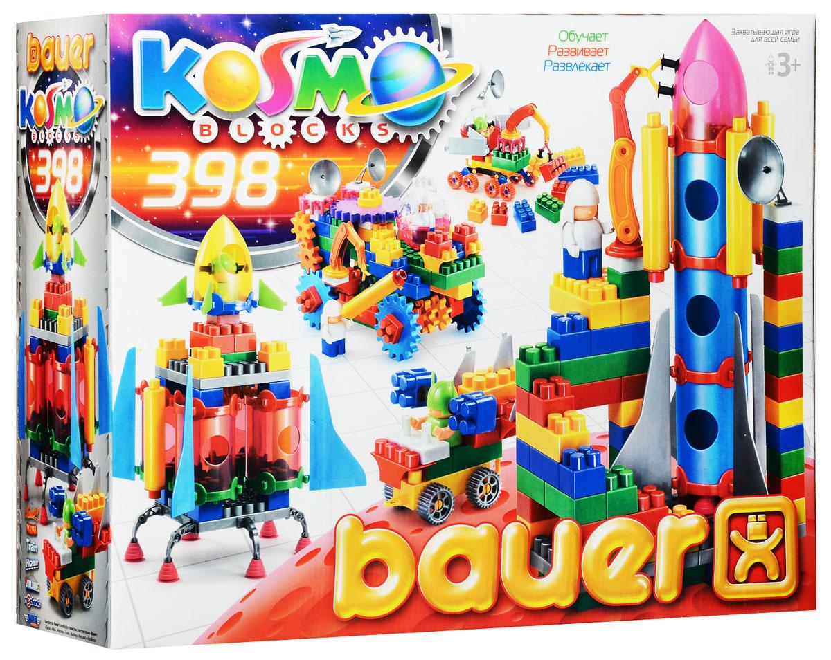 Bauer Конструктор KosmoBlocks 271271Конструктор Bauer KosmoBlocks содержит 398 ярких деталей разных форм, цветов и размеров для сборки различной сложности космических кораблей и другой космической техники. Конструктор прекрасно подходит для детского творчества и семейного отдыха, способствуют развитию объемного мышления ребенка, фантазии, координации движения глаз, мелкой моторики и памяти. Все детали сделаны из высококачественного пластика с использованием пищевых красителей. Ребенок сможет часами играть с этим конструктором, придумывая разные истории и комбинируя детали. Конструктор Bauer KosmoBlocks адаптирован к программам дошкольного образования, и может быть использован как индивидуально, так и в коллективе.