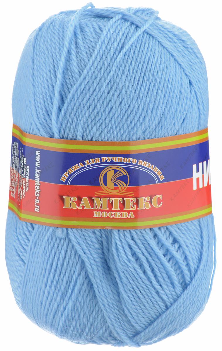 Пряжа для вязания Камтекс Нимфа, цвет: голубой (015), 300 м, 100 г, 10 шт365031_015Пряжа для вязания Камтекс Нимфа изготовлена из 35% шерсти и 65% акрила. Нимфа - ниточка средней толщины, довольно проста в вязании, легко и свободно скользит по крючку и спицам. За счет преобладания акрила над шерстью имеет приятную мягкость, совсем не колется и не раздражает кожу. Прекрасно подходит для вязания детских головных уборов, комбинезонов, жилетов, а также шалей, палантинов и накидок. Рекомендуются спицы и крючки №3-5. Состав: 35% шерсть, 65% акрил. Комплектация: 10 шт. Толщина нити: 2 мм.