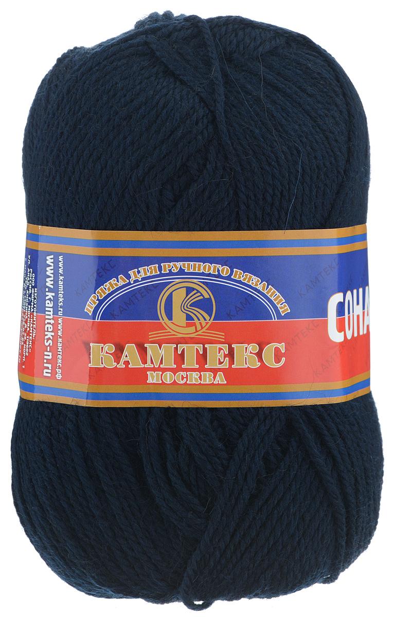 Пряжа для вязания Камтекс Соната, цвет: темно-синий, 250 м, 100 г, 10 шт136030_173Пряжа для вязания Камтекс Соната изготовлена из 50% шерсти, 50% акрила. Она вяжется легко и свободно, имеет богатую цветовую гамму от теплых пастельных тонов до ярких и смелых оттенков. Ворсистая ниточка ровно складывается в полотно, которое имеет минимальный процент усадки. Из пряжи Соната прекрасно вяжутся теплые туники, жилеты, свитера, платья и многие другие изделия. Рекомендуемые для вязания спицы и крючки 3-5 мм. Состав: 50% шерсть, 50% акрил. Комплектация: 10 шт. Толщина нити: 2 мм.