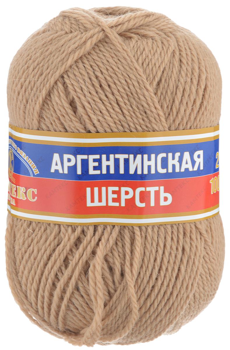 Пряжа для вязания Камтекс Аргентинская шерсть, цвет: бежевый (005), 200 м, 100 г, 10 шт136071_005Пряжа для вязания Камтекс Аргентинская шерсть - это стопроцентная импортная шерсть, которая отличается прочностью и гладкостью. Даже при взгляде на моток, сразу видно, что вещи из этой пряжи будут выглядеть дорого. Изделия не скатываются и не деформируются. Пряжа очень легка в работе, даже при роспуске полотна, она не цепляется, и не путается. Ниточка безумно теплая и уютная, отлично подходит для нашей морозной зимы. Даже ажурные шапки и шарфы при всей своей тонкости будут самыми надежными защитниками от снега и сильного ветра. Очень хорошо смотрятся из этой шерсти узоры из кос и жгутов. Рекомендуются спицы и крючки для вязания 3-5 мм. Состав: 100% шерсть.
