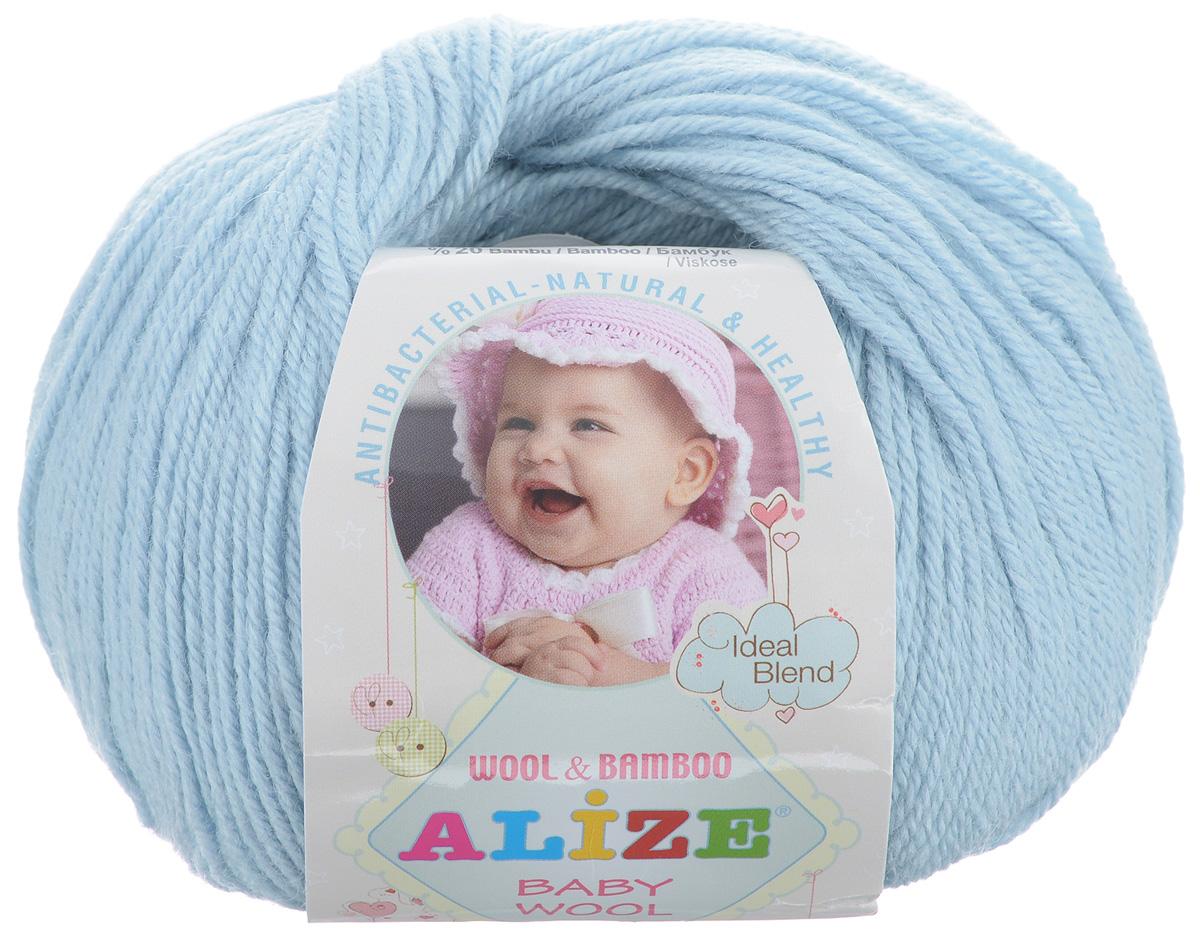 Пряжа для вязания Alize Baby Wool, цвет: светло-голубой (350), 175 м, 50 г, 10 шт686501_350Детская пряжа для вязания Alize Baby Wool изготовлена из очень мягкой и высококачественной натуральной шерсти и бамбука. Из пряжи Baby Wool получается тонкий, но очень теплый трикотаж для ребенка. Акрил в составе нитей допускает легкую машинную стирку вещей. Цветовая палитра включает в себя комбинации, которые подходят как для мальчиков, так и для девочек. Рекомендуемые для вязания спицы 2,5-4 мм и крючки 1-3 мм. Состав: 40% шерсть, 40% акрил, 20% бамбук.