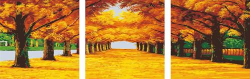 Набор для рисования по номерам Палитра Триптих. Осенняя аллея, 50 х 150 см7706767Набор для рисования по номерам Палитра Триптих. Осенняя аллея, состоящий из трех холстов, поможет создать красивую картину в виде панорамы. Подходит новичкам, любителям и даже тем, кто совершенно не умеет рисовать. С помощью такого набора вы можете стать настоящим художником и создателем прекрасных картин. Вы получите истинное удовольствие от погружения в процесс творчества, а созданные своими руками картины, украсят интерьер вашего дома или станут прекрасным подарком. Техника раскрашивания на холсте по номерам дает возможность легко рисовать даже сложные сюжеты. Прекрасно развивает художественный вкус, аккуратность и внимание. Каждая краска в наборе имеет свой номер, соответствующий номеру области на холсте. Нужно только аккуратно нанести необходимую краску на отмеченный для нее участок. Таким образом, шаг за шагом у вас получится великолепная картина. В набор входит: - 3 подготовленных загрунтованных холста, натянутых на деревянный...
