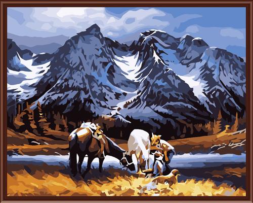 Набор для рисования по номерам Палитра Северная Дакота, 40 х 50 см7707555Набор для рисования по номерам Палитра Северная Дакота поможет создать красивую картину. Подходит новичкам, любителям и даже тем, кто совершенно не умеет рисовать. С помощью такого набора вы можете стать настоящим художником и создателем прекрасных картин. Вы получите истинное удовольствие от погружения в процесс творчества, а созданные своими руками картины, украсят интерьер вашего дома или станут прекрасным подарком. Техника раскрашивания на холсте по номерам дает возможность легко рисовать даже сложные сюжеты. Прекрасно развивает художественный вкус, аккуратность и внимание. Каждая краска в наборе имеет свой номер, соответствующий номеру области на холсте. Нужно только аккуратно нанести необходимую краску на отмеченный для нее участок. Таким образом, шаг за шагом у вас получится великолепная картина. В набор входит: - подготовленный загрунтованный холст, натянутый на деревянный подрамник; - акриловые краски (24 цвета); - 3...