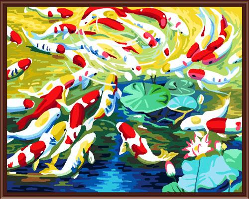 Набор для рисования по номерам Палитра Озеро с рыбками, 40 х 50 см7707566Набор для рисования по номерам Палитра Озеро с рыбками поможет создать красивую картину. Подходит новичкам, любителям и даже тем, кто совершенно не умеет рисовать. С помощью такого набора вы можете стать настоящим художником и создателем прекрасных картин. Вы получите истинное удовольствие от погружения в процесс творчества, а созданные своими руками картины, украсят интерьер вашего дома или станут прекрасным подарком. Техника раскрашивания на холсте по номерам дает возможность легко рисовать даже сложные сюжеты. Прекрасно развивает художественный вкус, аккуратность и внимание. Каждая краска в наборе имеет свой номер, соответствующий номеру области на холсте. Нужно только аккуратно нанести необходимую краску на отмеченный для нее участок. Таким образом, шаг за шагом у вас получится великолепная картина. В набор входит: - подготовленный загрунтованный холст, натянутый на деревянный подрамник; - акриловые краски (29 цветов); - 3...