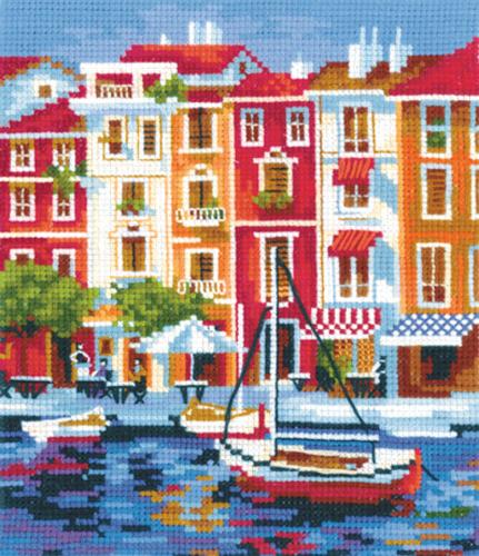 Набор для вышивания крестом Тихая гавань, 16 х 18 см580166Набор для вышивания Тихая гавань поможет вам создать свой личный шедевр - красивую и изысканную картину, вышитую нитками мулине в технике счетный крест. Работа, выполненная своими руками, станет отличным подарком для друзей и близких! В набор входит: - канва Aida Bestex 14 (белого цвета); - мулине (хлопок): 23 цветов; - цветная схема; - инструкция на русском языке; - игла.