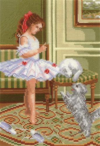 Набор для вышивания крестом В балетном классе, 18 х 26 см580440Набор для вышивания В балетном классе поможет вам создать свой личный шедевр - красивую картину, вышитую нитками мулине в технике счетный крест. Работа, выполненная своими руками, станет отличным подарком для друзей и близких! В набор входит: - канва Aida Bestex 14 (белого цвета); - мулине Радуга (шерсть): 38 цветов; - цветная схема; - инструкция на русском языке; - игла.