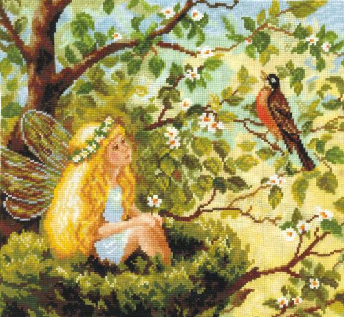 Набор для вышивания крестом Волшебная песня, 31 см х 29 см581385Набор для вышивания Волшебная песня поможет вам создать свой личный шедевр - красивую и изысканную во все времена картину, вышитую нитками мулине в технике счетный крест. Работа, выполненная своими руками, станет отличным подарком для друзей и близких! В набор входит: - канва Aida Bestex 14 (белого цвета); - мулине Радуга (шерсть): 36 цветов; - цветная схема; - инструкция на русском языке; - игла.