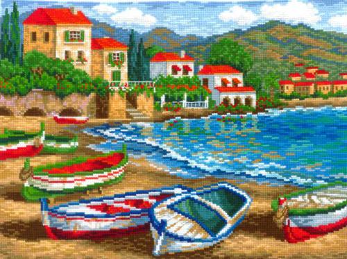 Набор для вышивания Лазурная бухта, 35 см х 26 см581387Красивый и стильный рисунок-вышивка, выполненный на канве, выглядит оригинально и всегда модно. В наборе для вышивания Лазурная бухта есть все необходимое для создания собственного чуда. В набор входит: - канва Aida Bestex 14, - мулине хлопок - 50 цветов, - цветная символьная схема, - инструкция по вышиванию, - органайзер с образцами цветов нитей, - игла. Техника вышивания - счетный крест. Работа, сделанная своими руками, создаст особый уют и атмосферу в доме и долгие годы будет радовать вас и ваших близких. А подарок, выполненный собственноручно, станет самым ценным для друзей и знакомых.