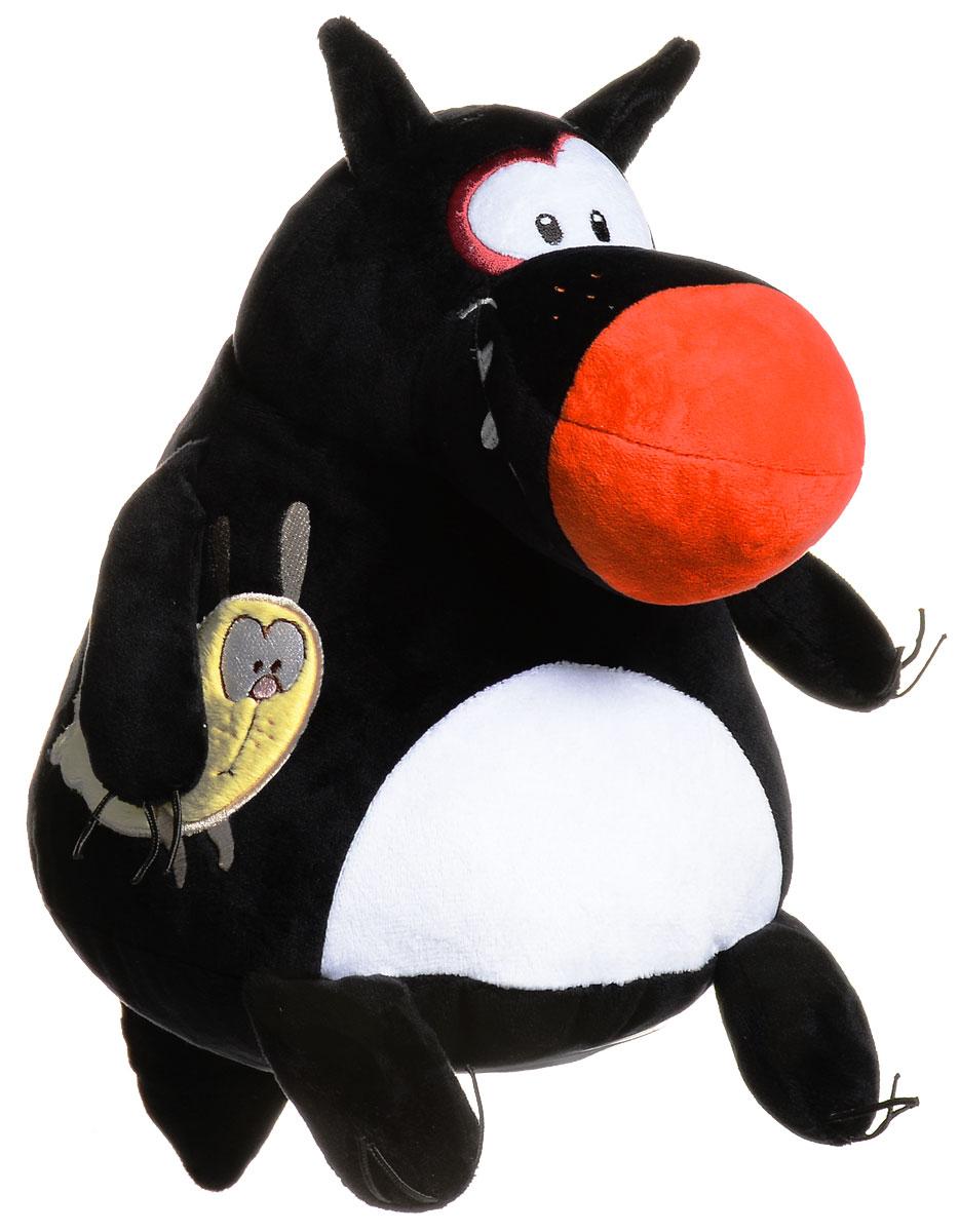 Мягкая игрушка Волк-шарик В30, цвет: черный1907/ЧН/30