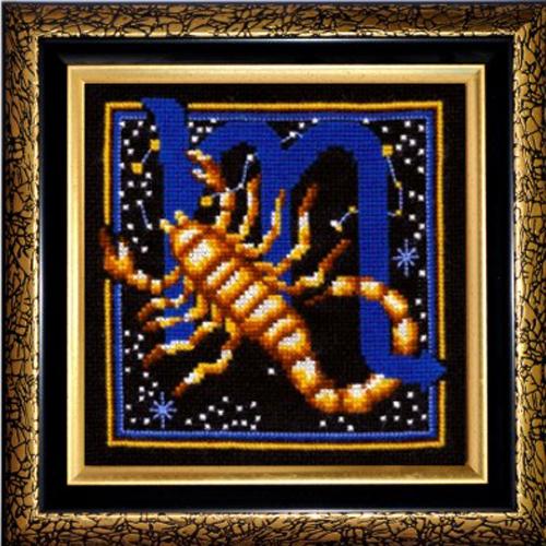 Набор для вышивания крестом Знаки зодиака. Скорпион, 16 x 16 см580455Красивый и оригинальный рисунок-вышивка, выполненный на канве, выглядит стильно и всегда модно. Тематика этого набора зодиакальная, она порадует любителей астрологии и гороскопов. В комплекте для вышивания Знаки зодиака. Скорпион есть все необходимое для создания собственного чуда. В набор входит: - канва Aida Bestex 14 (черного цвета), - нитки мулине Радуга (100% шерсть), - цветная символьная схема, - игла, - органайзер с образцами цветов нитей, - инструкция по вышиванию на русском языке. Работа, сделанная своими руками, создаст особый уют и атмосферу в доме, и долгие годы будет радовать вас и ваших близких. УВАЖАЕМЫЕ КЛИЕНТЫ! Обращаем ваше внимание, на тот факт, что рамка в комплект не входит, а служит для визуального восприятия товара.