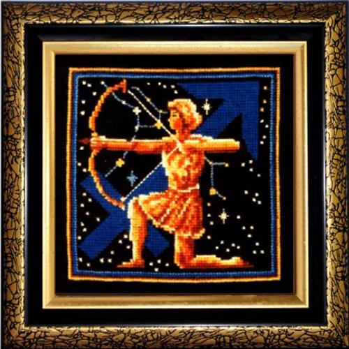 Набор для вышивания крестом Знаки зодиака. Стрелец, 16 x 16 см580456Красивый и оригинальный рисунок-вышивка, выполненный на канве, выглядит стильно и всегда модно. Тематика этого набора зодиакальная, она порадует любителей астрологии и гороскопов. В комплекте для вышивания Знаки зодиака. Стрелец есть все необходимое для создания собственного чуда. В набор входит: - канва Aida Bestex 14 (черного цвета), - нитки мулине (100% шерсть), - цветная символьная схема, - инструкция по вышиванию на русском языке. Работа, сделанная своими руками, создаст особый уют и атмосферу в доме, и долгие годы будет радовать вас и ваших близких. УВАЖАЕМЫЕ КЛИЕНТЫ! Обращаем ваше внимание, на тот факт, что рамка в комплект не входит, а служит для визуального восприятия товара.