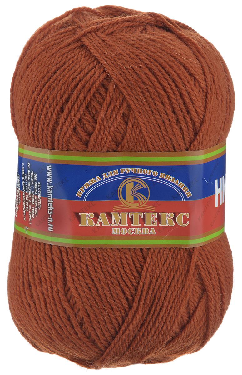 Пряжа для вязания Камтекс Нимфа, цвет: терракот (051), 300 м, 100 г, 10 шт365031_051Пряжа для вязания Камтекс Нимфа изготовлена из 35% шерсти и 65% акрила. Нимфа - ниточка средней толщины, довольно проста в вязании, легко и свободно скользит по крючку и спицам. За счет преобладания акрила над шерстью имеет приятную мягкость, совсем не колется и не раздражает кожу. Прекрасно подходит для вязания детских головных уборов, комбинезонов, жилетов, а также шалей, палантинов и накидок. Рекомендуются спицы и крючки №3-5. Состав: 35% шерсть, 65% акрил. Комплектация: 10 шт.