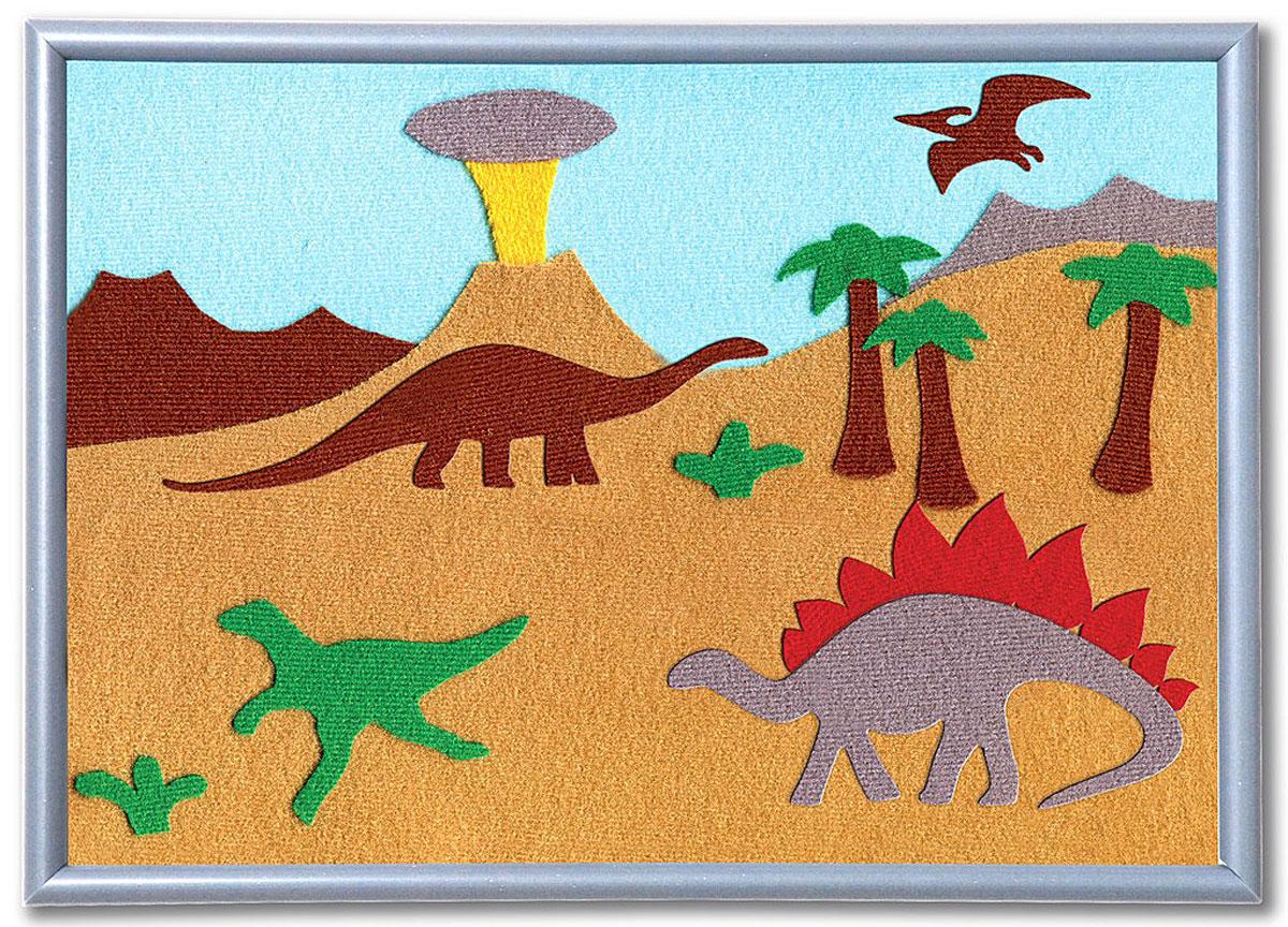 Stigis Стигис-аппликация ДинозаврыБР_ДинозаврыС помощью этого набора ваш ребенок сможет легко смастерить настоящую картинку из ткани. Все, что должен уметь ребенок - это держать в руке ножницы, а если этого навыка еще нет, то это отличный повод получить его! Специальная ткань легко режется и не сечется. Благодаря ярким цветам и приятной фактуре аппликация получится красочной и уютной. Чтобы создать картинку, нужно вырезать элементы из ткани по контурам, разложить их на фоне и попросить маму прижать картинку утюгом. Готово! Предмет гордости можно подарить бабушке или повесить на стенку в детской. В набор входит: фон для картинки 30 см х 21 см, ткань различных расцветок с уникальным термоклеевым слоем, инструкция. Фантазия, любовь к творчеству, вкус, чувство цвета, дизайнерские навыки, мелкая моторика, аккуратность - эти качества и навыки развиваются при занятии стигис-аппликацией.