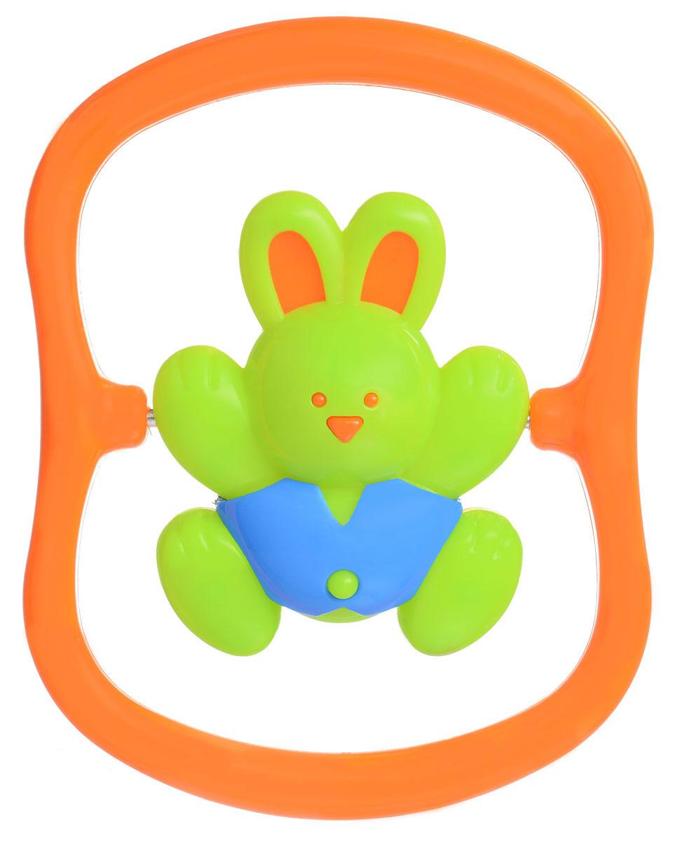 Игрушка-погремушка Малышарики Зайка на качелях, цвет: зеленый, оранжевыйMSH0302-011С первых месяцев жизни малыш начинает интересоваться яркими, подвижными предметами, ведь они являются его главными помощниками в изучении нашего удивительного мира. Забавная погремушка Зайка на качелях поможет малышу научиться фокусировать внимание. Игрушка развивает мелкую моторику и слуховое восприятие. Выполнена в ярком дизайне и из безопасных материалов. Удобная форма игрушки позволит малышу с легкостью взять и держать ее, а приятный звук погремушки порадует и заинтересует его. Игрушка поможет развить цветовосприятие, тактильные ощущения и мелкую моторику рук ребенка, а элемент погремушки поспособствует развитию слуха.