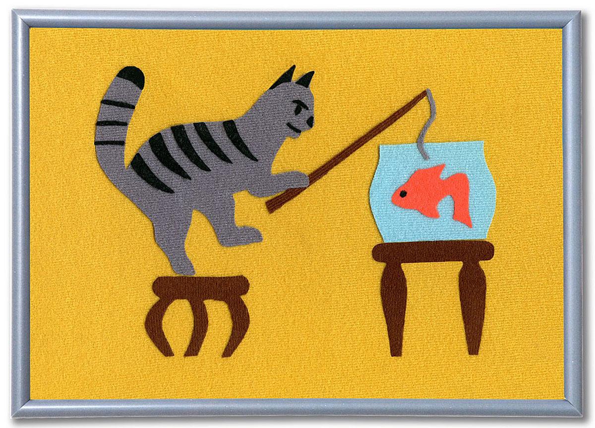 Stigis Стигис-аппликация Кот-рыболовБР_Кот-рыболовС помощью этого набора ваш ребенок сможет легко смастерить настоящую картинку из ткани. Все, что должен уметь ребенок - это держать в руке ножницы, а если этого навыка еще нет, то это отличный повод получить его! Специальная ткань легко режется и не сечется. Благодаря ярким цветам и приятной фактуре аппликация получится красочной и уютной. Чтобы создать картинку, нужно вырезать элементы из ткани по контурам, разложить их на фоне и попросить маму прижать картинку утюгом. Готово! Предмет гордости можно подарить бабушке или повесить на стенку в детской. В набор входит: фон для картинки 30 х 21 см, ткань различных расцветок с уникальным термоклеевым слоем, инструкция. Фантазия, любовь к творчеству, вкус, чувство цвета, дизайнерские навыки, мелкая моторика, аккуратность - эти качества и навыки развиваются при занятии стигис-аппликацией.