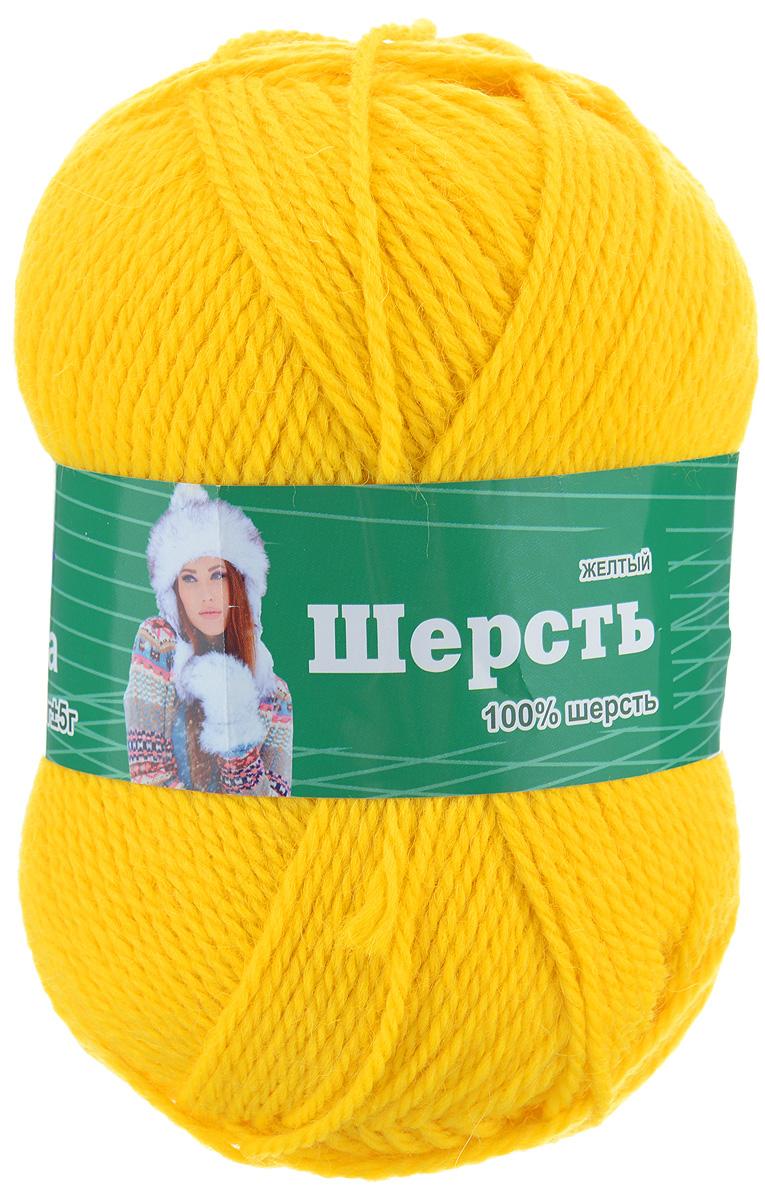 Пряжа для вязания Астра Wool, цвет: желтый, 200 м, 100 г, 3 шт488342_желтыйПряжа для вязания Астра Wool изготовлена из мягкой и высококачественной натуральной шерсти. Из нее получается тонкий, но очень теплый трикотаж. Шерстяное волокно имеет высокую упругость, поэтому хорошо держит форму, обладает превосходными гигиеническими свойствами: имеет высокую гигроскопичность и отводит влагу от тела. Рекомендуемые для вязания спицы: 3-5 мм. Рекомендуемый для вязания крючок: 3-5 мм. Состав: 100% шерсть.