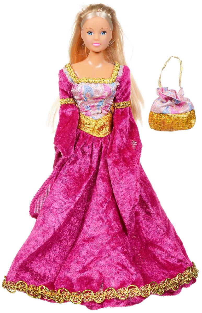 Simba Кукла Штеффи в Средневековье цвет платья малиновый5736818Кукла Simba Штеффи в Средневековье надолго займет внимание вашей малышки и подарит ей множество счастливых мгновений. Кукла изготовлена из пластика, ее голова, ручки и ножки подвижны, что позволяет придавать ей разнообразные позы. Куколка одета в роскошное платье сказочной принцессы с широкими рукавами, украшенное кружевной отстрочкой по низу юбки и по горловине. Волшебный образ дополняет сумочка-мешочек, оформленная оригинальным принтом. Чудесные длинные волосы куклы так весело расчесывать и создавать из них всевозможные прически, плести косички, жгутики и хвостики. Благодаря играм с куклой, ваша малышка сможет развить фантазию и любознательность, овладеть навыками общения и научиться ответственности. Порадуйте свою принцессу таким прекрасным подарком!