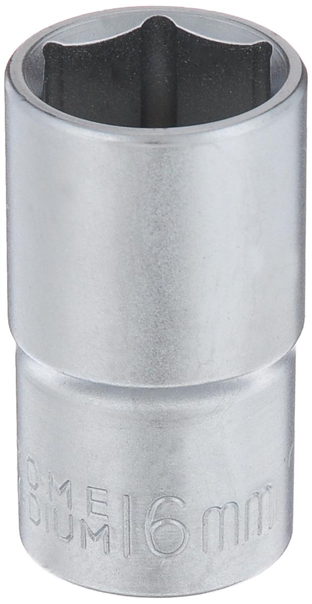 Головка торцевая FIT, шестигранная, 1/2, 16 мм62076Торцевая 6-гранная головка FIT изготовлена из хром-ванадиевой стали и предназначена для монтажа/демонтажа резьбовых соединений. Станет отличным помощником монтажнику или владельцу авто. Этот инструмент обеспечит надежную фиксацию на гранях крепежа. Диаметр головки: 16 мм. Размер переходника: 1/2.