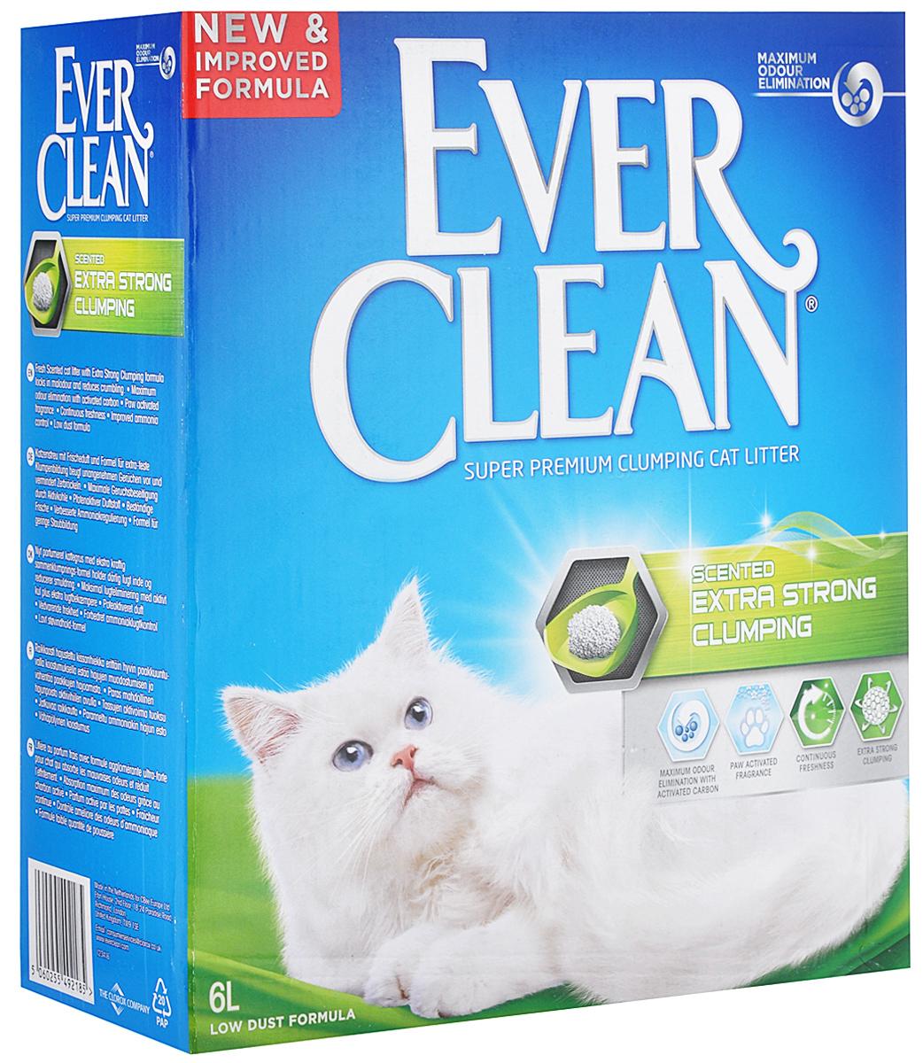 """Наполнитель для кошачьего туалета Ever Clean """"Extra Strong Clumping Scented"""", комкующийся, с ароматизатором, 6 л"""