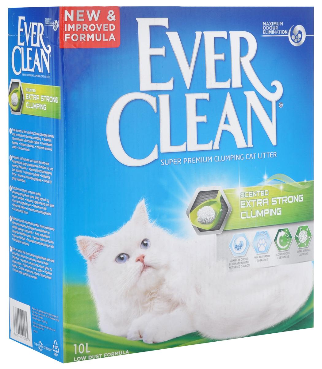 """Наполнитель для кошачьего туалета Ever Clean """"Extra Strong Clumping Scented"""", комкующийся, с ароматизатором, 10 л 59656"""