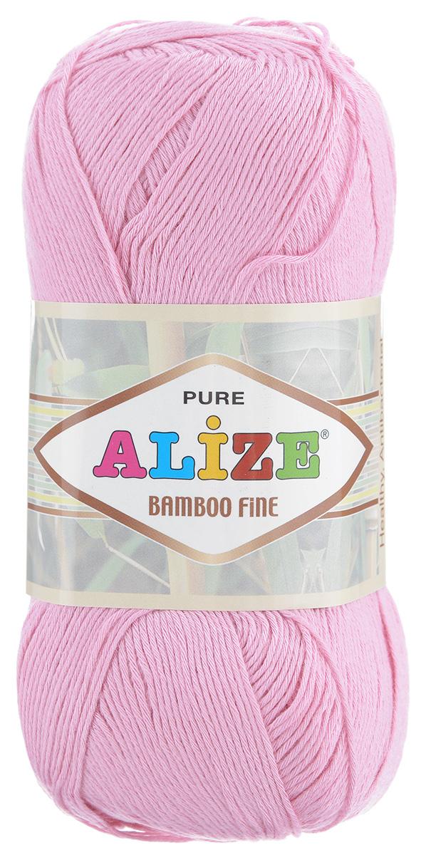 Пряжа для вязания Alize Bamboo Fine, цвет: розовый (194), 440 м, 100 г, 5 шт688988_194Пряжа Alize Bamboo Fine подходит для ручного вязания детям и взрослым. Пряжа однотонная, приятная на ощупь, хорошо лежит в полотне. Изделия из такой нити получаются мягкие и красивые. Рекомендованные спицы 2,5-3,5 мм и крючок для вязания 1-3 мм. Состав: 100% бамбук.