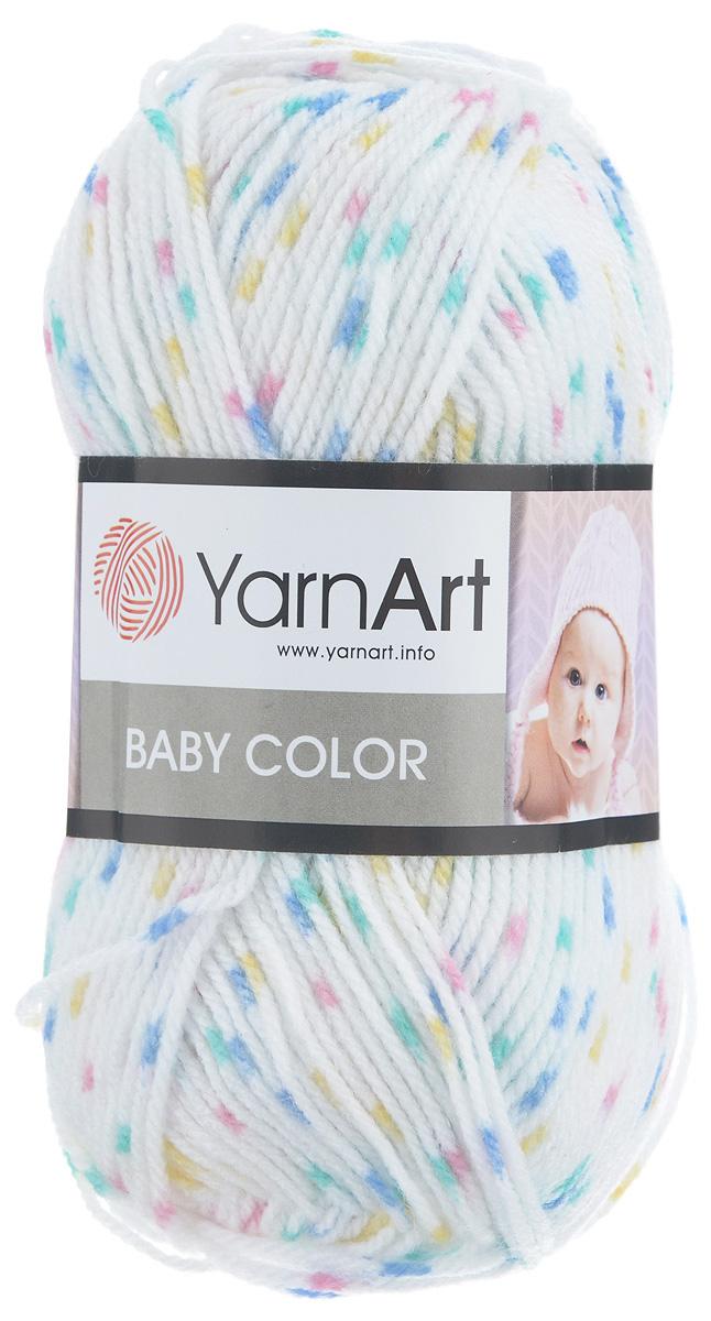 Пряжа для вязания YarnArt Baby Color, цвет: белый, синий, розовый (0267), 150 м, 50 г, 5 шт372024_0267Детская пряжа для вязания YarnArt Baby Color изготовлена из высококачественного 100% акрила. Из пряжи YarnArt Baby Color получается тонкий и теплый трикотаж для ребенка. Допускается легкая машинная стирка вещей. Цветовая палитра из ярких цветов подходит как для мальчиков, так и для девочек. Рекомендуется для вязания на крючках и спицах 3,5 мм. Состав: 100% акрил.